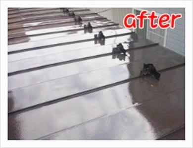 青森県黒石市【屋根シリコン系塗装/3回塗り施工事例】成田建築塗装