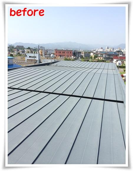 青森県弘前市【アパート2棟屋根塗装336平米、シリコン系3回塗り】みちのく塗装