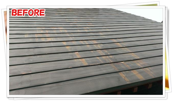 青森県平川市【屋根塗装シリコン系3回塗り330m2】千葉塗装ACTIVEWALL